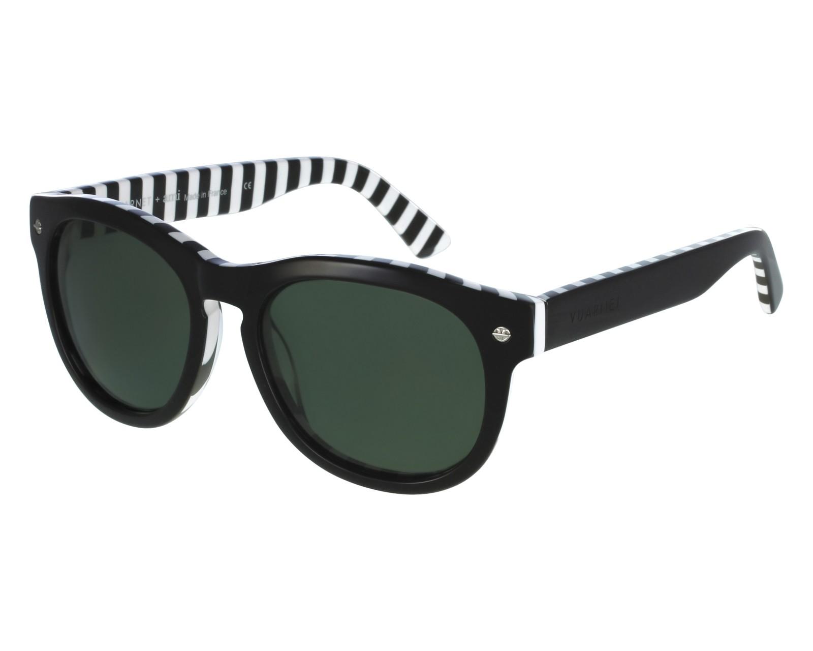 lunettes de soleil vuarnet vl 1504 0001 noir avec des verres gris. Black Bedroom Furniture Sets. Home Design Ideas