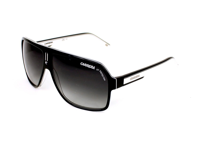 f91679381d514 Lunettes de soleil Carrera CARRERA-27 XSZ 9O - Noir Blanc vue de profil