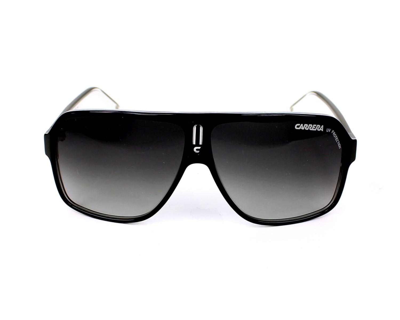 935301279be6b Lunettes de soleil Carrera CARRERA-27 XSZ 9O - Noir Blanc vue de face