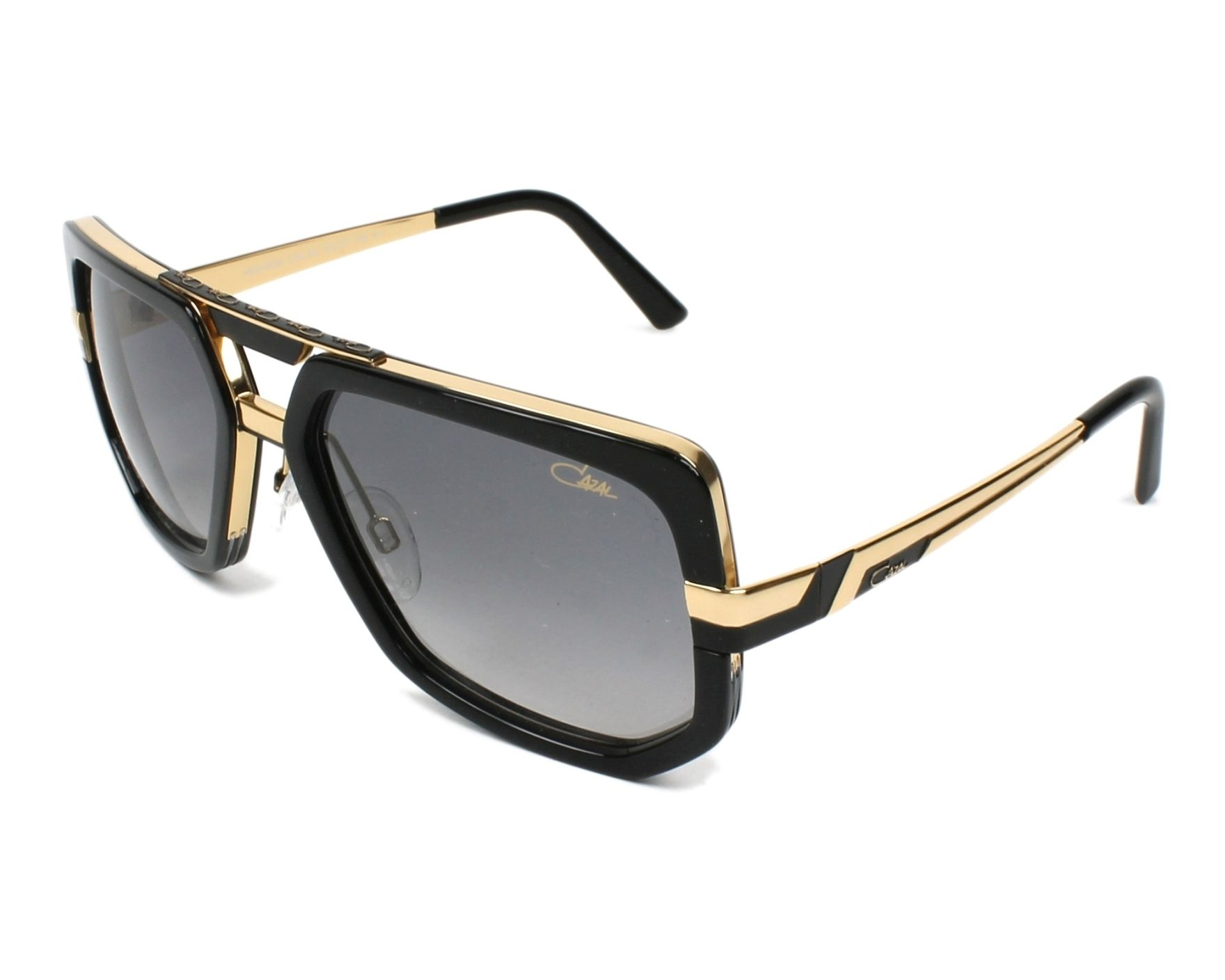 lunettes de soleil cazal 662 3 001 noir avec des verres gris. Black Bedroom Furniture Sets. Home Design Ideas