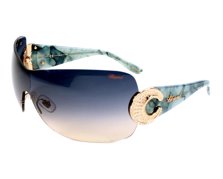 Lunettes de soleil Chopard SCH-939-S 8FCX - Or Bleu corail vue de de6126ec3935