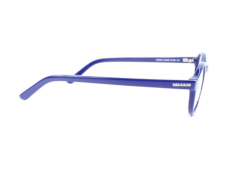 4e5d28e7a8eec9 Lunettes de vue Diesel DL-5024 090 47-20 Bleu vue de côté