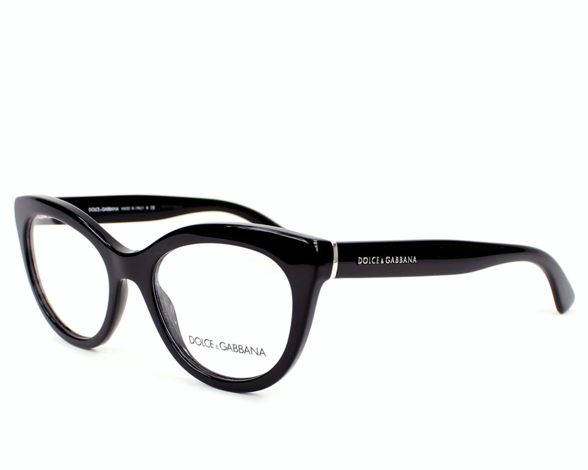lunettes de vue dolce gabbana dg 3197 501 noir monture femmes. Black Bedroom Furniture Sets. Home Design Ideas