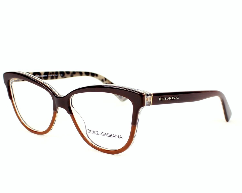 59331ae97c Lunettes de vue Dolce & Gabbana DG-3229 2881 - Marron vue de profil