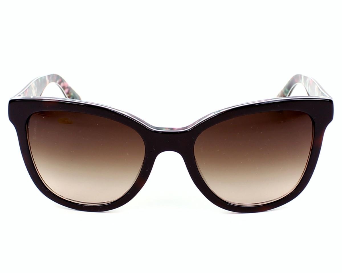 b4b693b774239 Lunettes de soleil Dolce   Gabbana DG-4190 278113 - Havane Mix vue de face