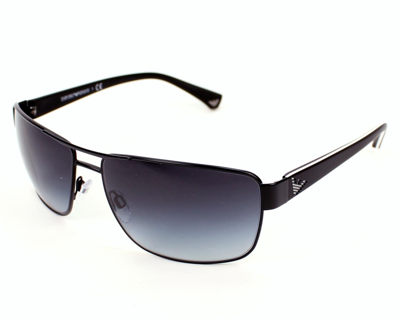 lunettes de soleil emporio armani ea 2031 3109 8g noir avec des verres gris pour hommes. Black Bedroom Furniture Sets. Home Design Ideas