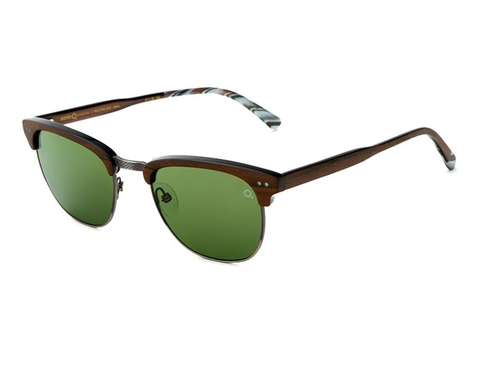 lunettes de soleil etnia barcelona mileend brsl marron avec des verres vert. Black Bedroom Furniture Sets. Home Design Ideas