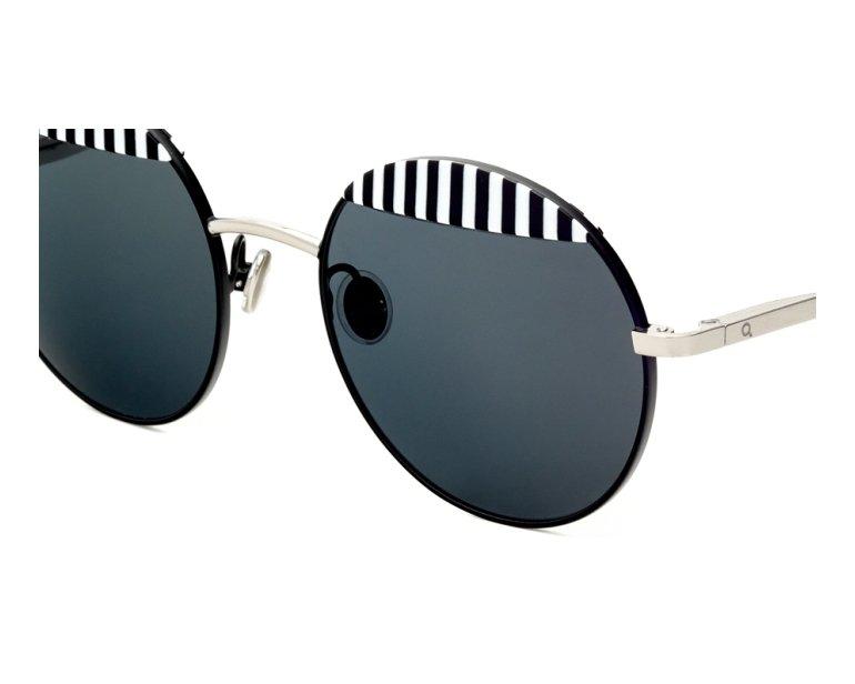 Lunettes de soleil etnia barcelona wolseley bksl argent avec des verres gris vert - Verre lunette raye assurance ...