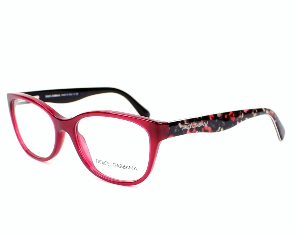 lunettes de vue dolce gabbana dg 3136 2782 bordeaux monture femmes. Black Bedroom Furniture Sets. Home Design Ideas