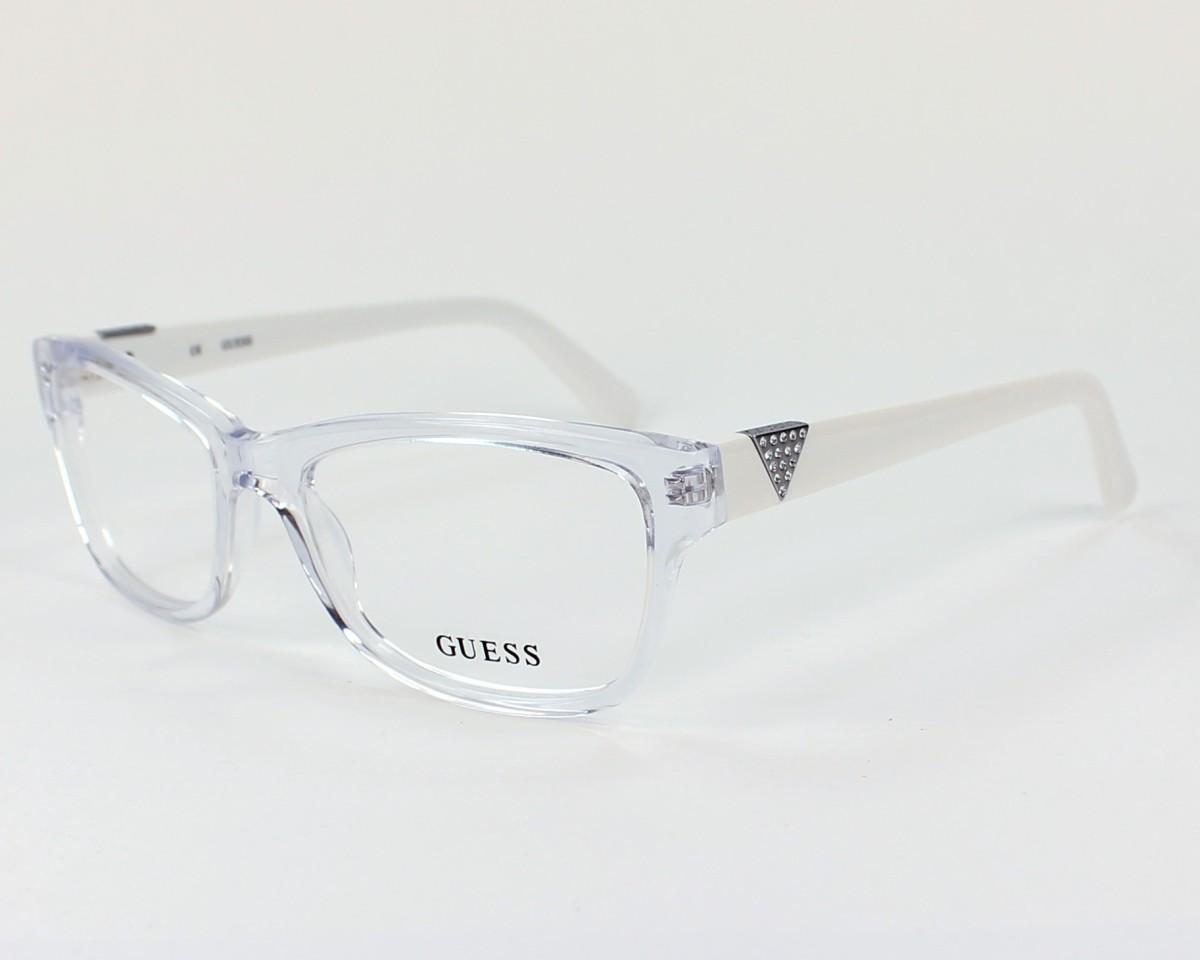 75950b96e45b73 Lunettes de vue Guess GU-2294 CRY - Transparent vue de profil
