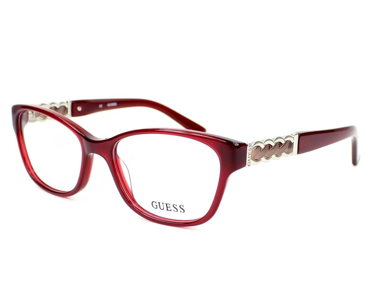 lunettes de vue guess gu 2382 bur 53 visionet. Black Bedroom Furniture Sets. Home Design Ideas