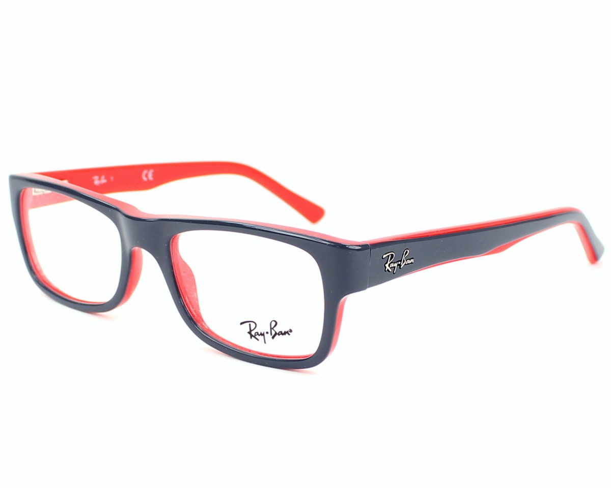 ray ban grise et rouge