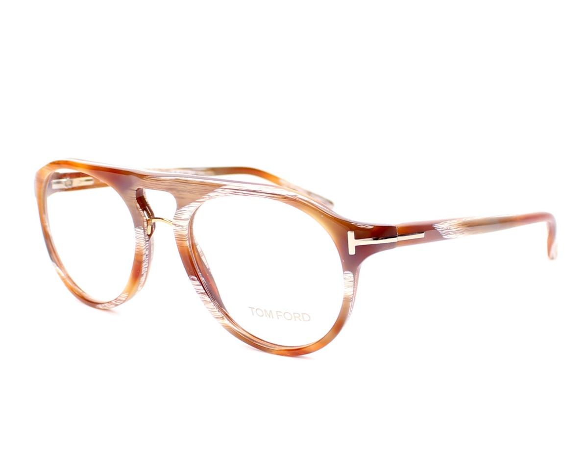 ... Lunettes de vue Tom Ford TF-5007 Q41 49-18 Marron vue de profil ... 3a0fdb51b721