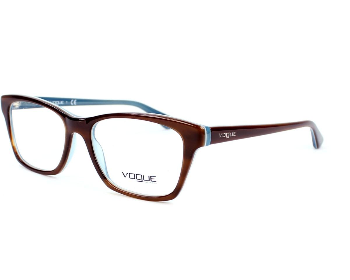 6e8e2f99a5111 Lunettes de vue Vogue VO-2714 2014 52-16 Marron Bleu vue de profil
