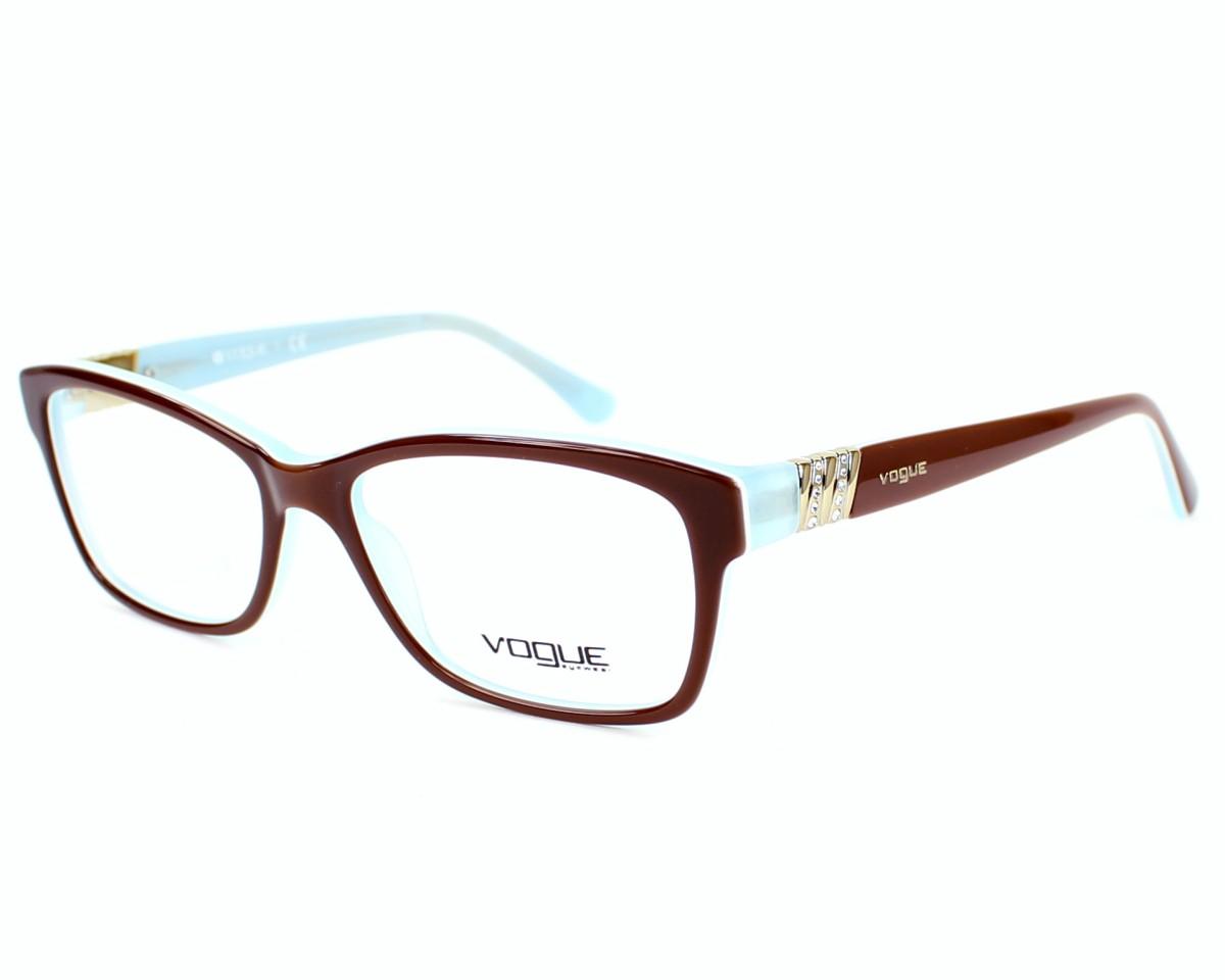 6b5d8883c1f679 Lunettes de vue Vogue VO-2765-B 2011 53-16 Marron Bleu vue