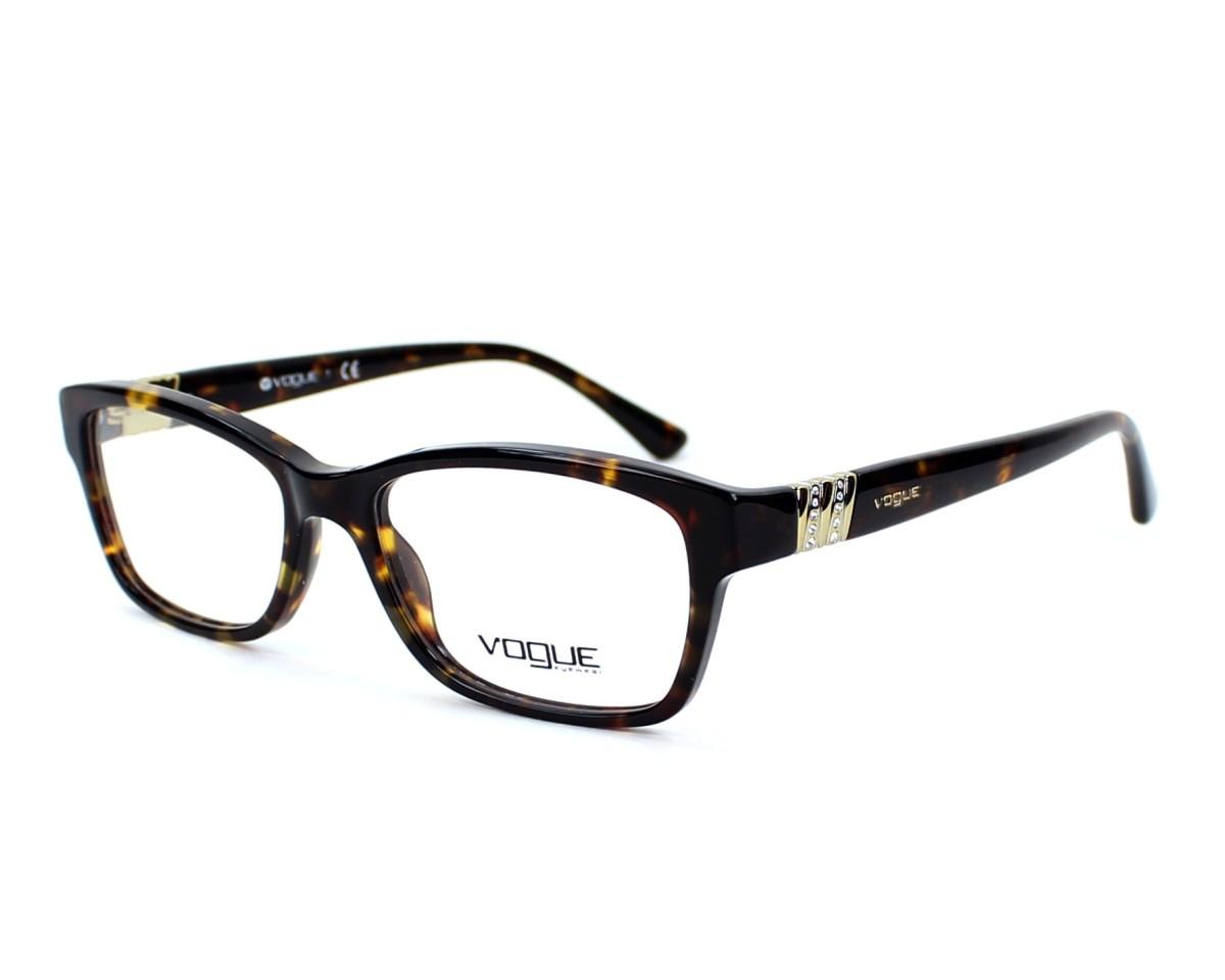218b0f1815 Lunettes de vue Vogue VO-2765-B W656 51-16 Havane vue de