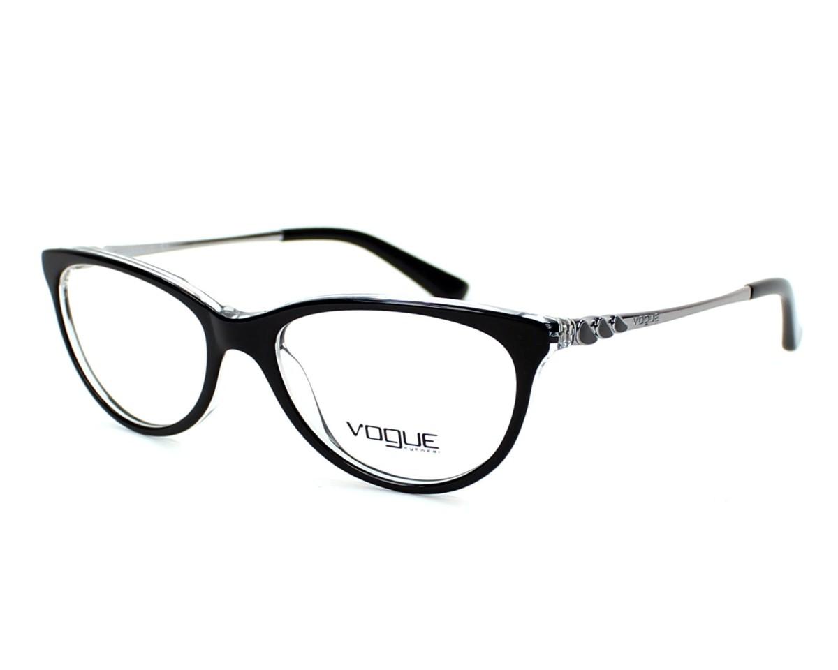 36e9449cc9b0fa Lunettes de vue Vogue VO-2766 W827 - Noir vue de profil