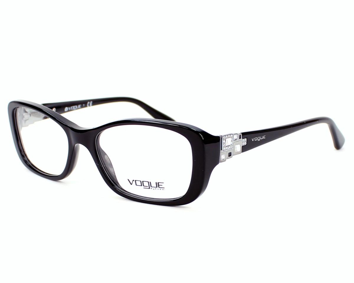 79e4c280791c82 Lunettes de vue Vogue VO-2842-B W44 - Noir Argent vue de profil