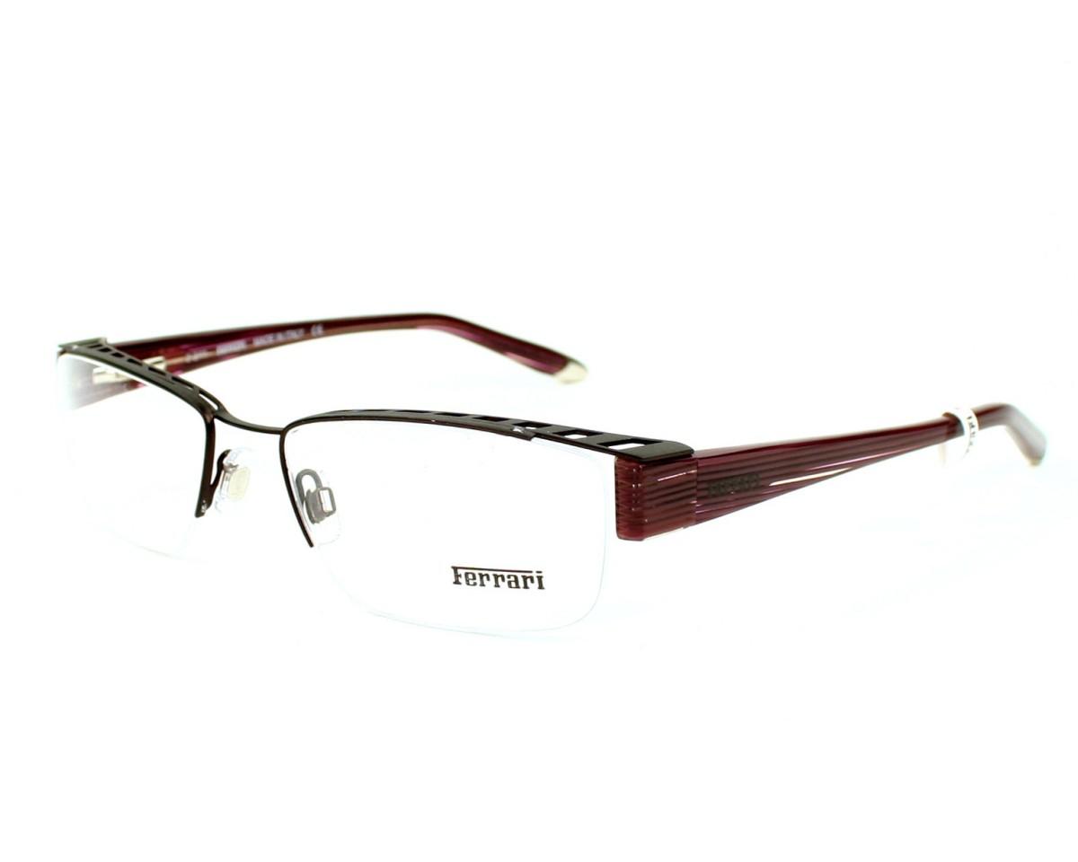 264e44267d858 Lunettes de vue Ferrari FR-5038 217 55-18 Ruthénium vue de profil