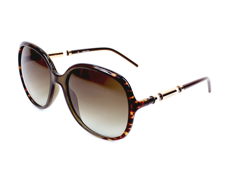 Lunettes de soleil Givenchy SGV-821 07RF - Havane Marron vue de profil d5e61a451e05