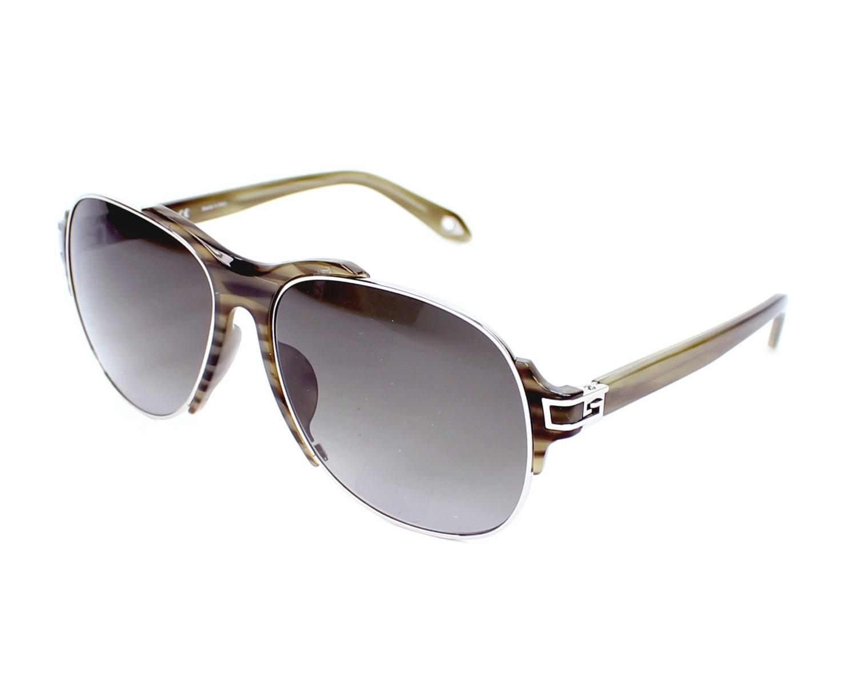 Lunettes de soleil givenchy sgva 14 579x vert avec des verres gris pour hommes - Verre lunette raye assurance ...