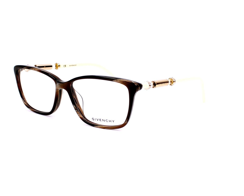 Lunettes de vue Givenchy VGV-804-T 9AJN - Marron Beige vue de profil b7df0df4757e