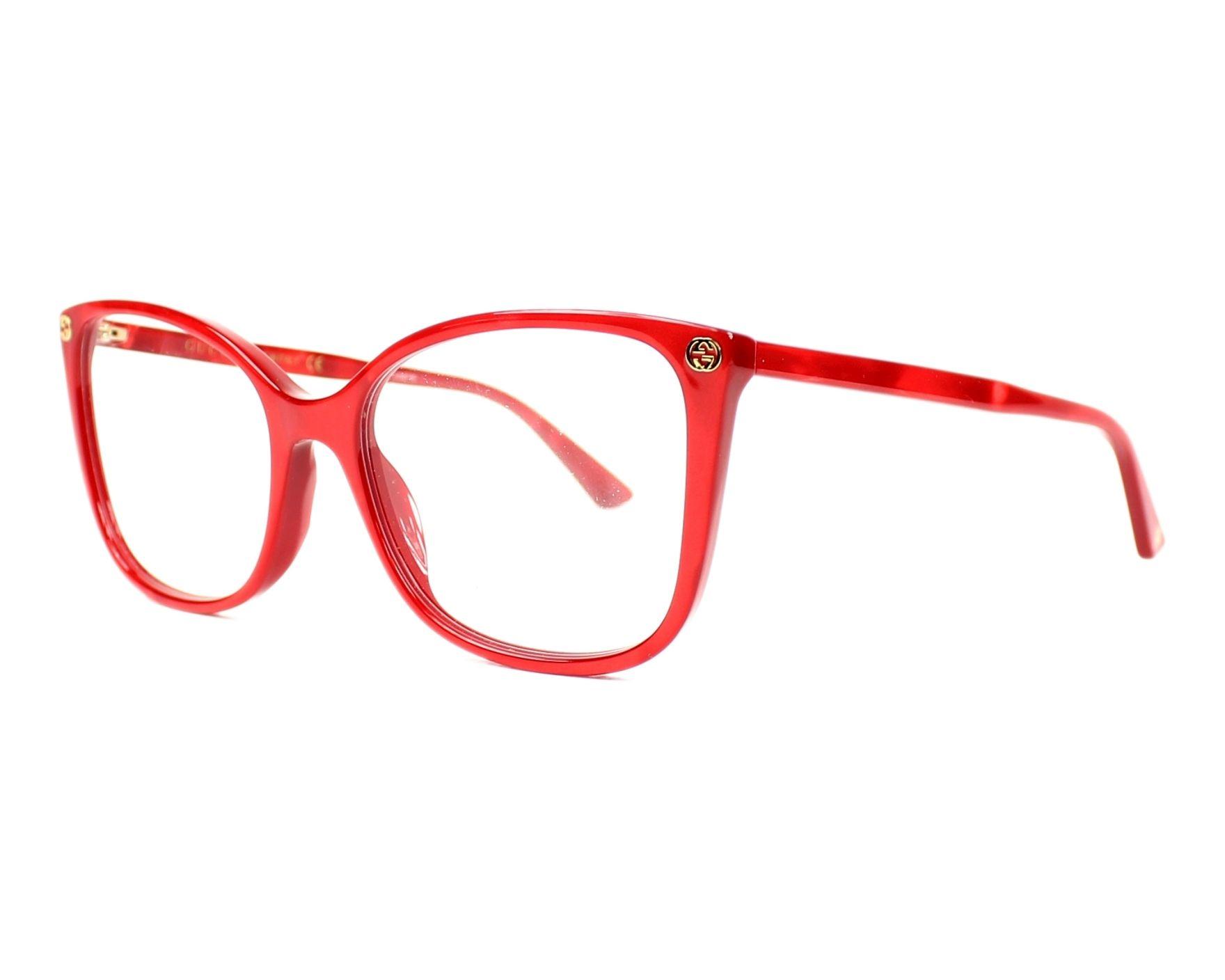 06168a4f1a Lunettes de vue Gucci GG-0026-O 004 53-17 Rouge vue de