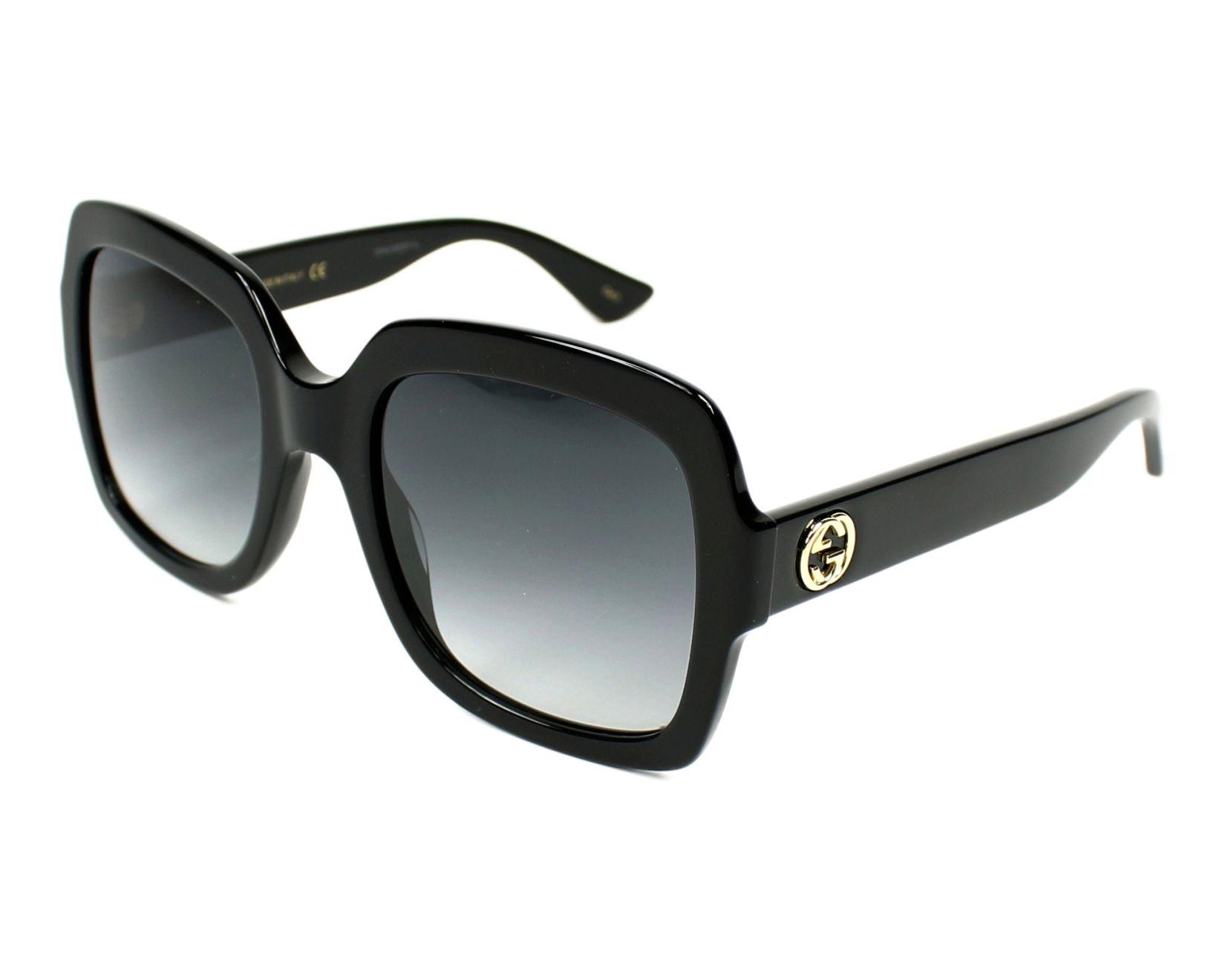 Lunettes de soleil Gucci GG-0036-S 001 54-22 Noir vue de a41d414cb20d
