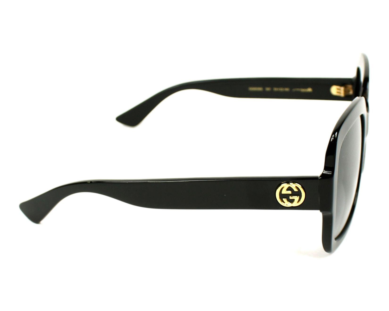 Lunettes de soleil Gucci GG-0036-S 001 54-22 Noir vue de ffaaed829df0