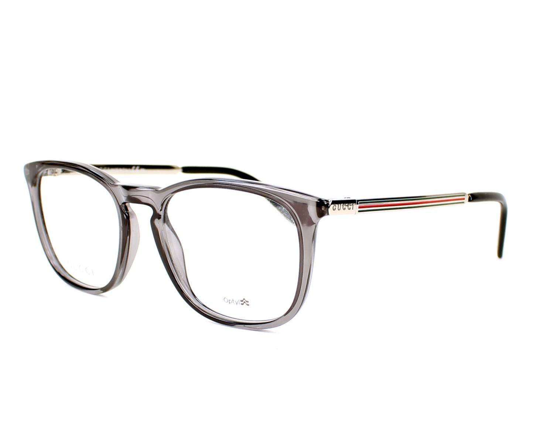 Lunettes de vue Gucci GG-1136 QX6 - Gris Argent vue de profil 1ae41f855d87