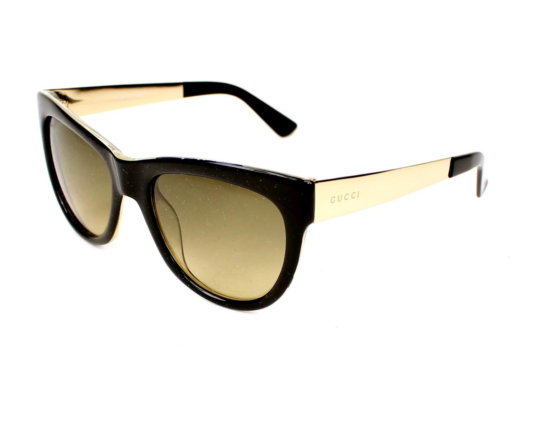 1c9a7f481d7af Lunettes de soleil Gucci GG-3739-S NIE ED - Noir Or vue