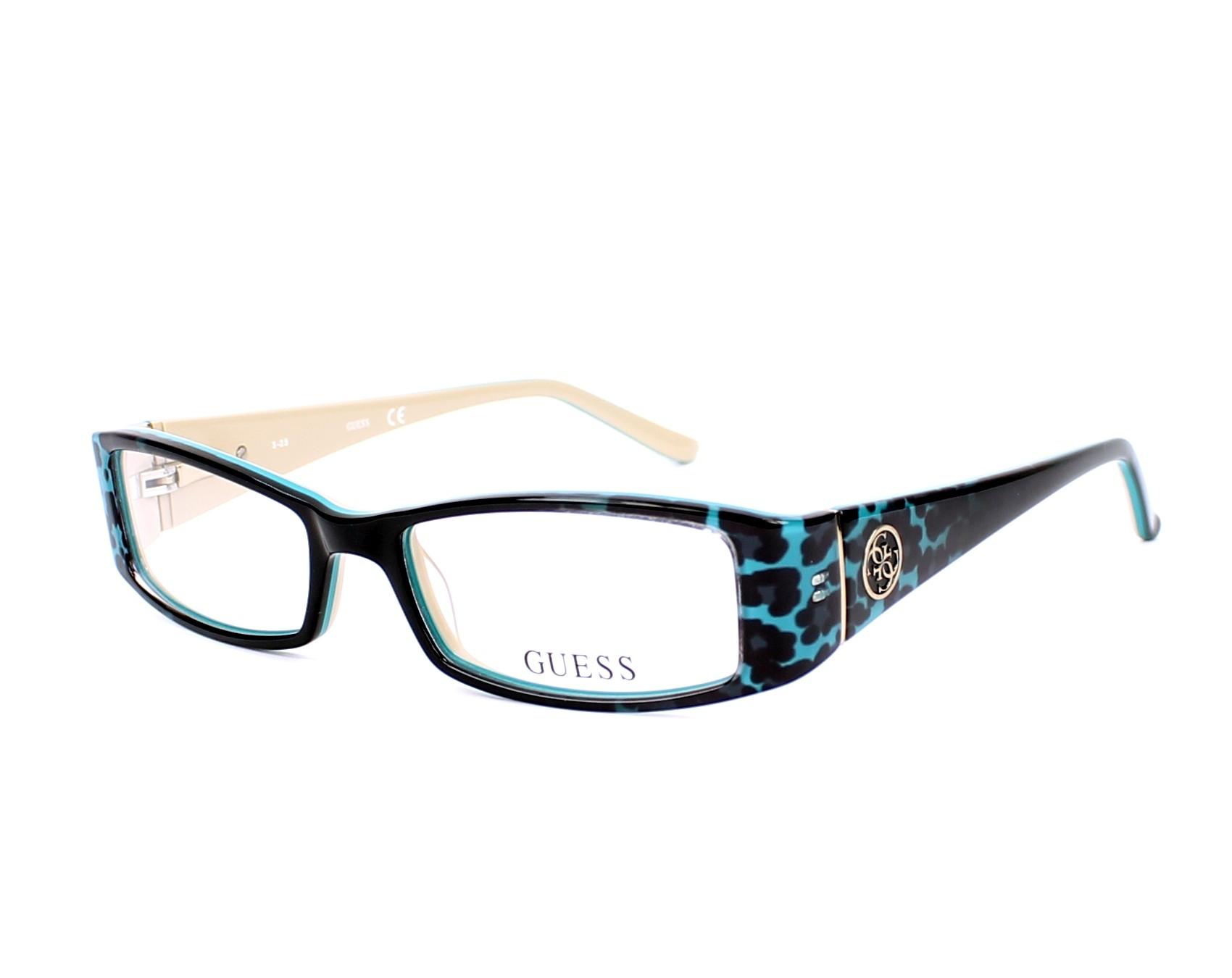 lunettes de vue guess gu 2537 089 noir monture femmes. Black Bedroom Furniture Sets. Home Design Ideas