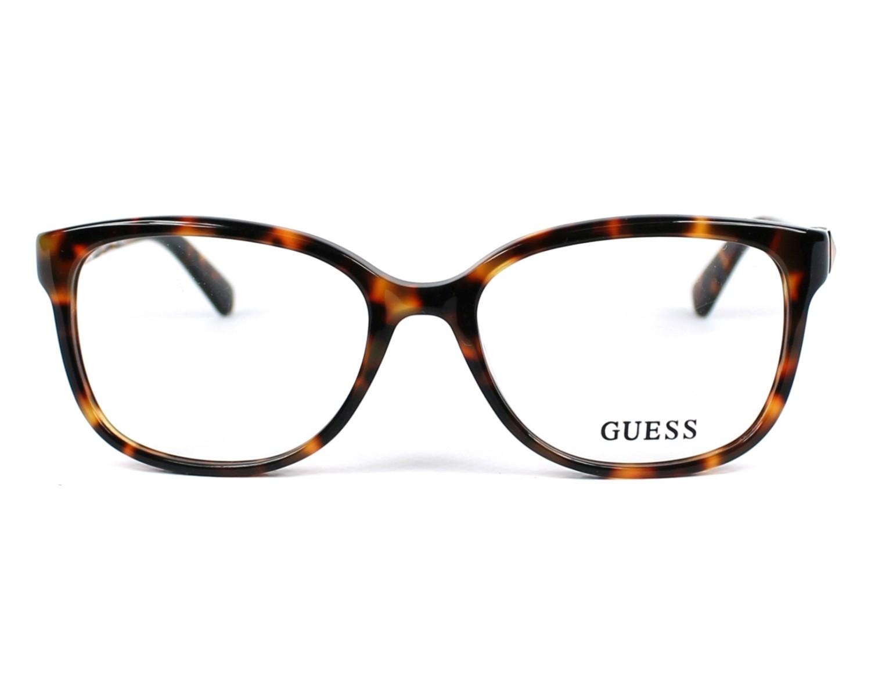 lunettes de vue guess gu 2560 052 havane. Black Bedroom Furniture Sets. Home Design Ideas