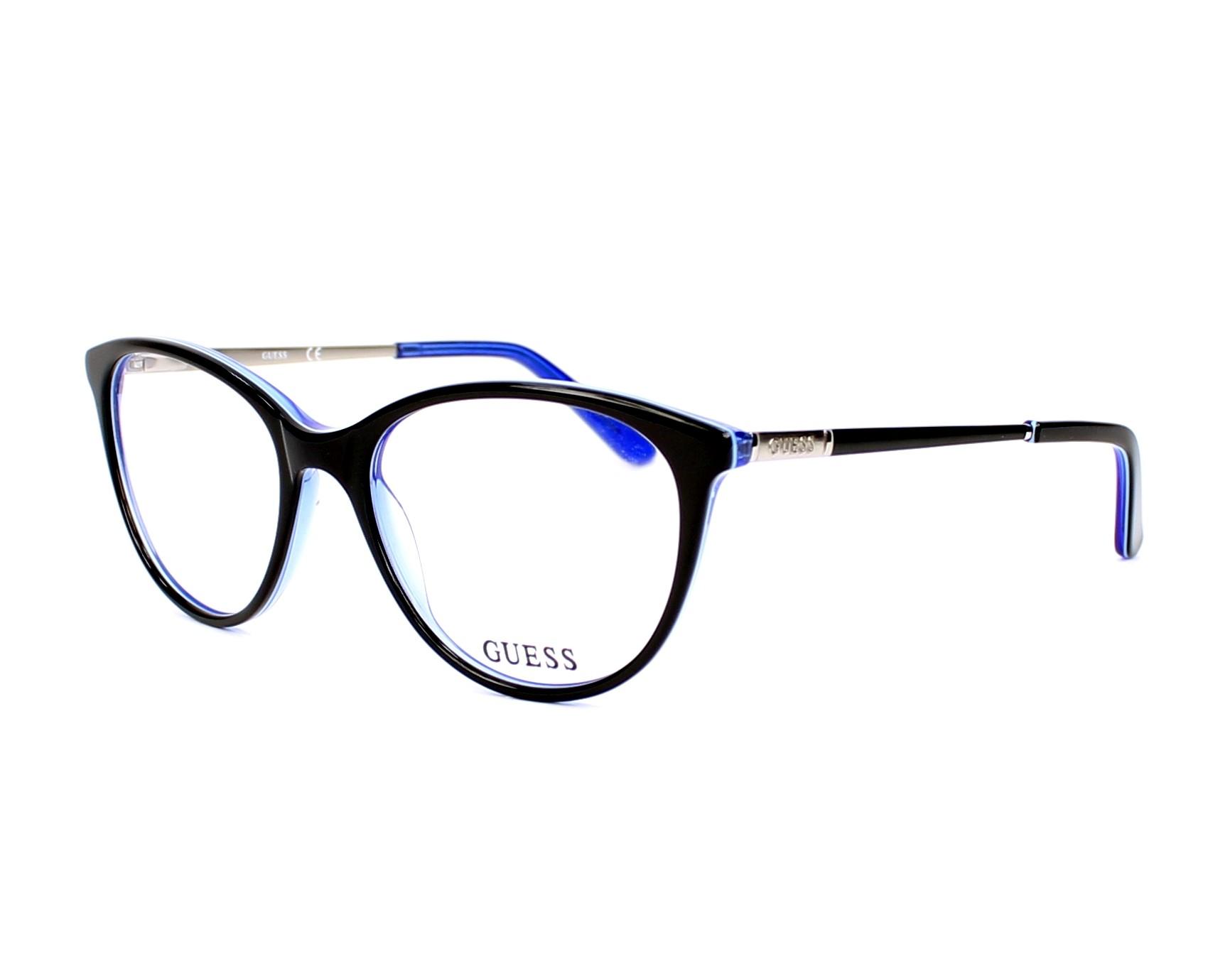 0d1993845a4ae6 lunettes de vue guess gu 2565 001 noir monture femmes taille 52 pour 114 00