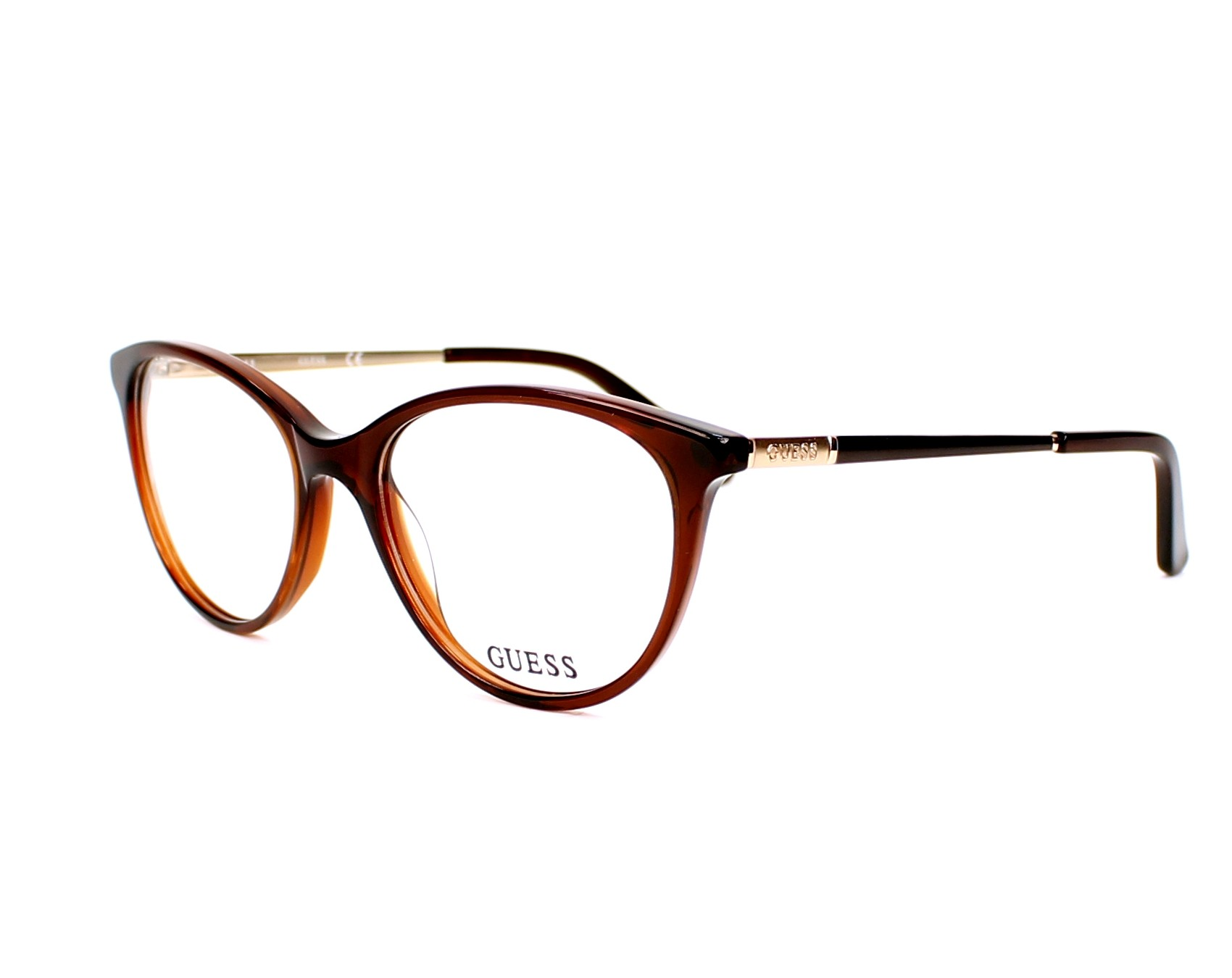 guess eyeglasses gu 2565 050 brown visionet