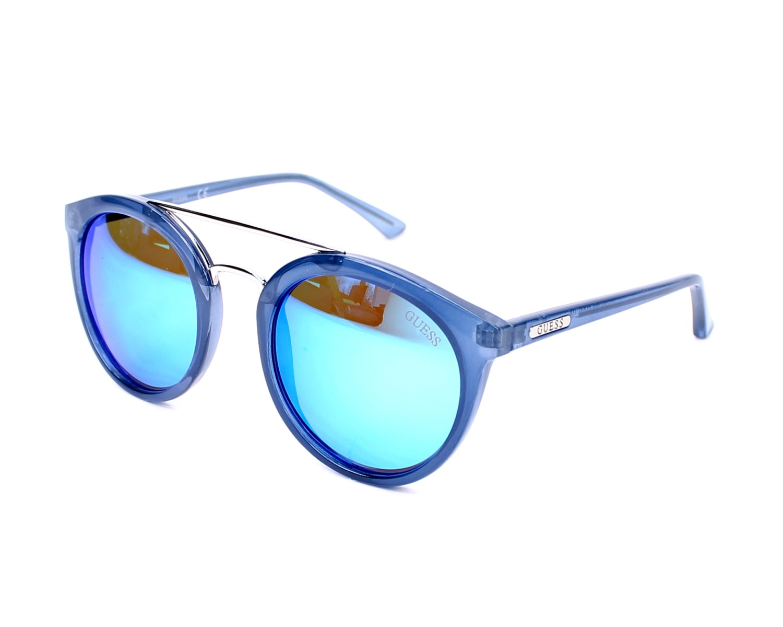 Lunettes de soleil Guess GU-7387 90X 52-21 Bleu vue de profil fafdcc228b8e