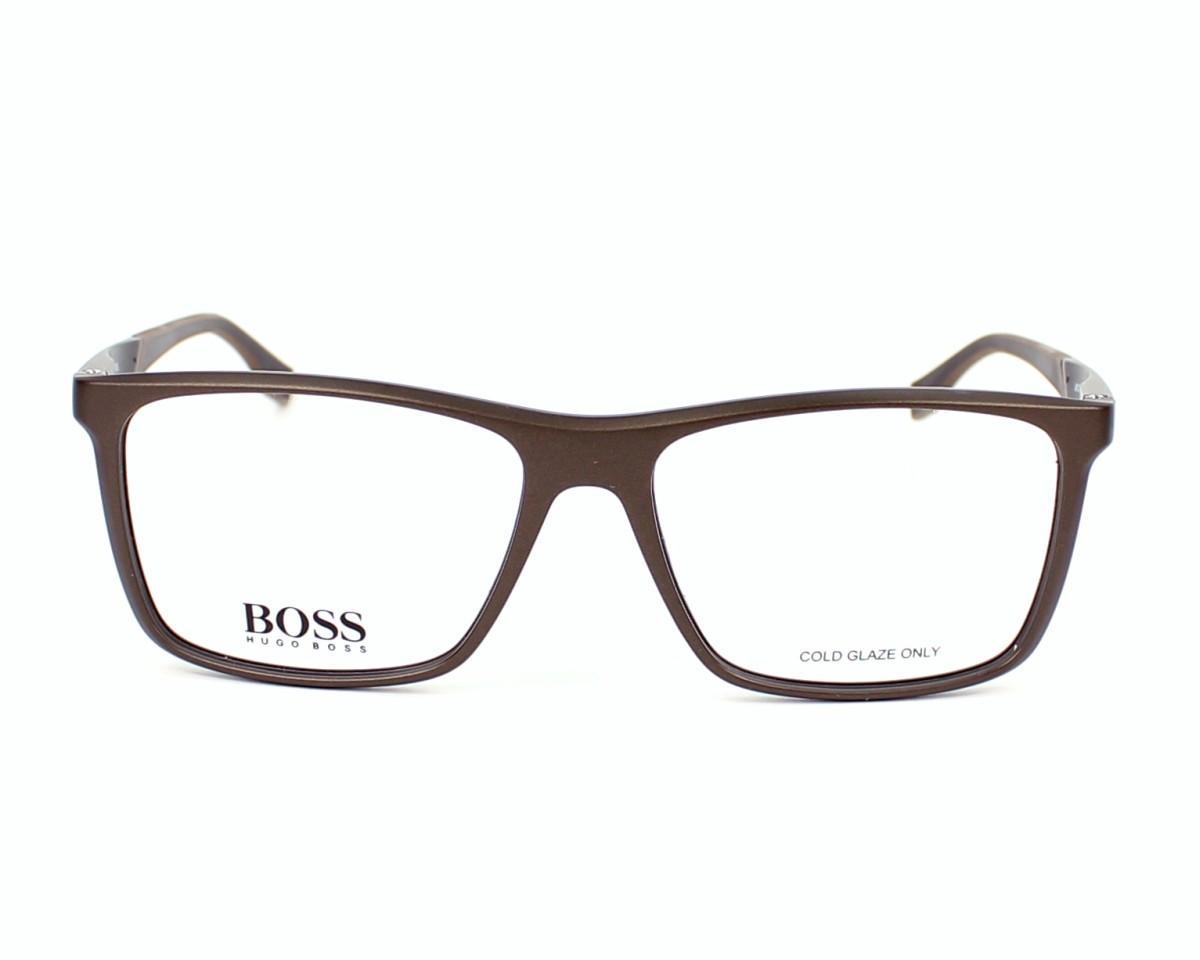 f9955bd9d5f88 Lunettes de vue Hugo Boss BOSS-0708 H08 - Marron vue de face