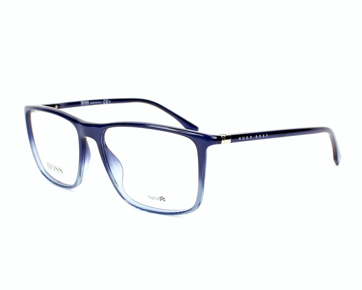 lunettes de vue hugo boss boss 0713 hoy bleu monture hommes. Black Bedroom Furniture Sets. Home Design Ideas