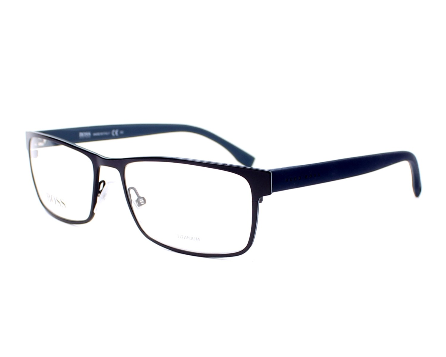 Hugo Boss Eyeglasses Boss 0740 Kc7 Blue Visionet