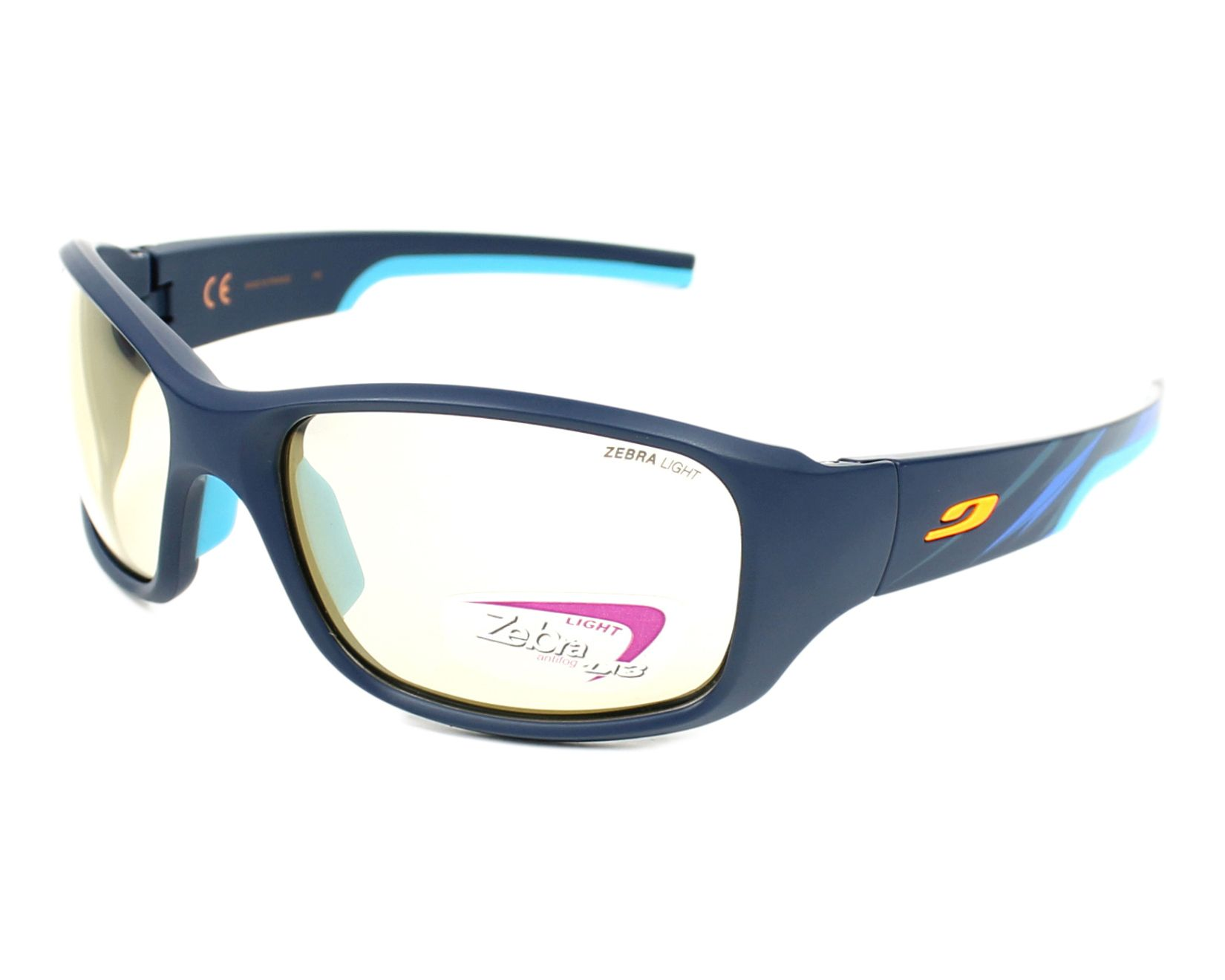 lunettes de soleil julbo j438 3132 bleu avec des verres jaune. Black Bedroom Furniture Sets. Home Design Ideas
