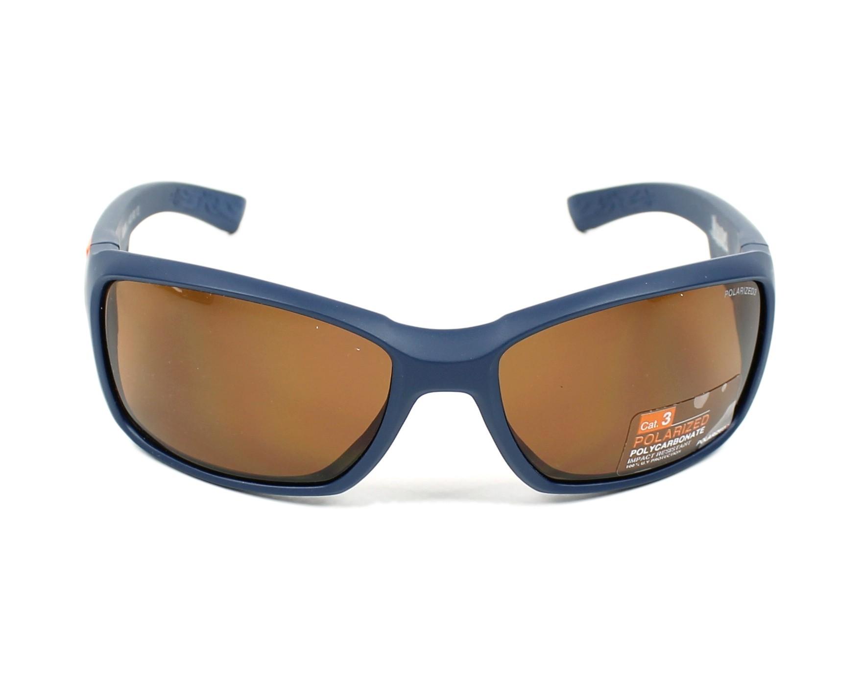 lunettes de soleil julbo j400 9012 bleu avec des verres marron. Black Bedroom Furniture Sets. Home Design Ideas
