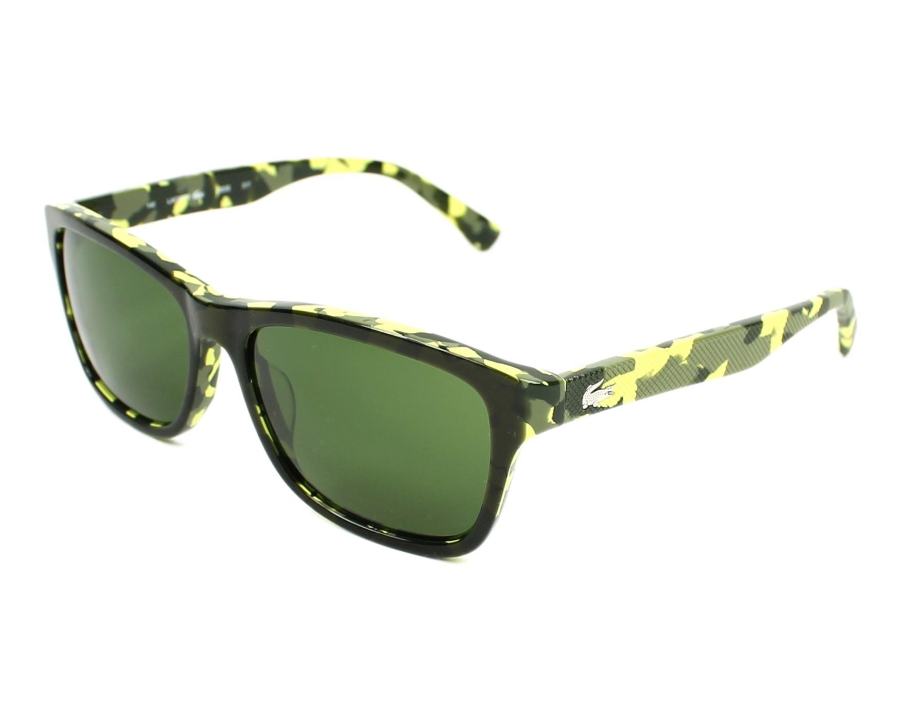 lunettes de soleil lacoste l 683 s 317 vert avec des verres vert pour mixte. Black Bedroom Furniture Sets. Home Design Ideas