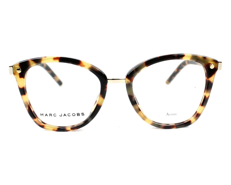 Lunettes de vue Marc Jacobs MARC-24 00F - Havane Or vue de face 55fef493e6a9