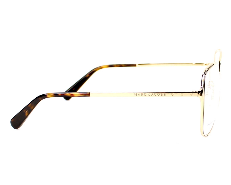 Lunettes de vue Marc Jacobs MJ-629 KS6 56-15 Or vue de côté 14dfd34d441d