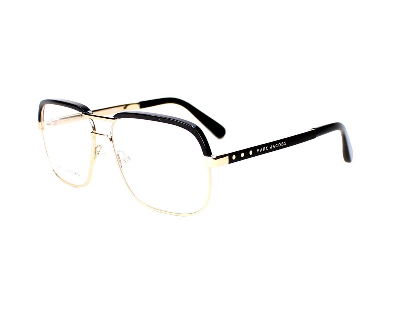Marc Jacobs - Lunettes de vue à monture aviateur avec verres transparents - Doré - Doré E1M8S