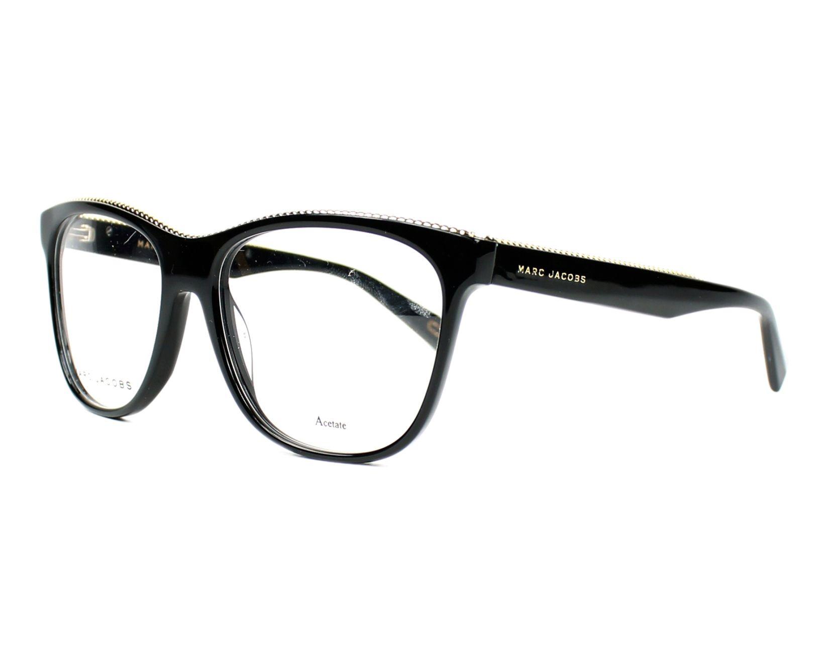 marc jacobs eyeglasses marc 164 807 black visionet. Black Bedroom Furniture Sets. Home Design Ideas