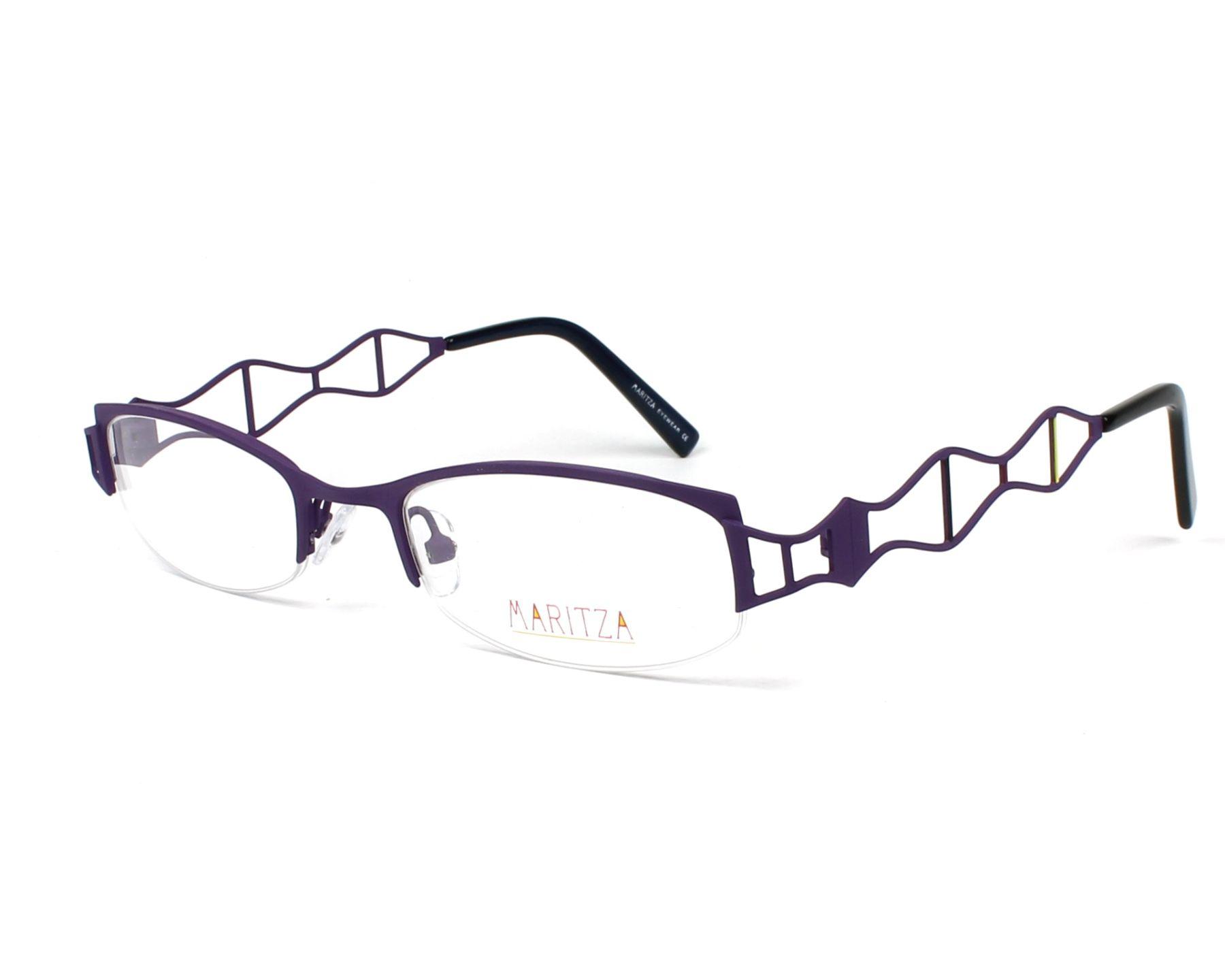 dc8f672fafe45 Lunettes de vue Maritza M-0096 VIR 50-20 Violet vue de profil