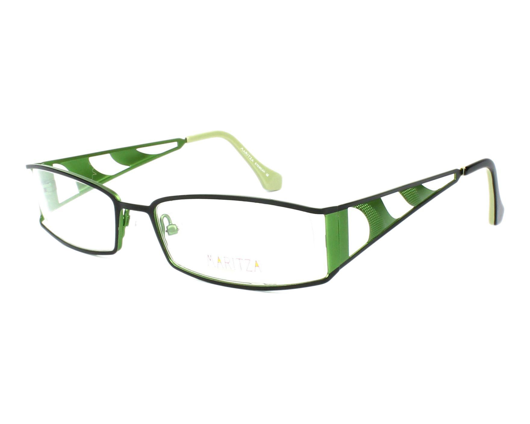 37375d8678c04 Lunettes de vue Maritza M-0097 BGR 54-16 Noir Vert vue de profil