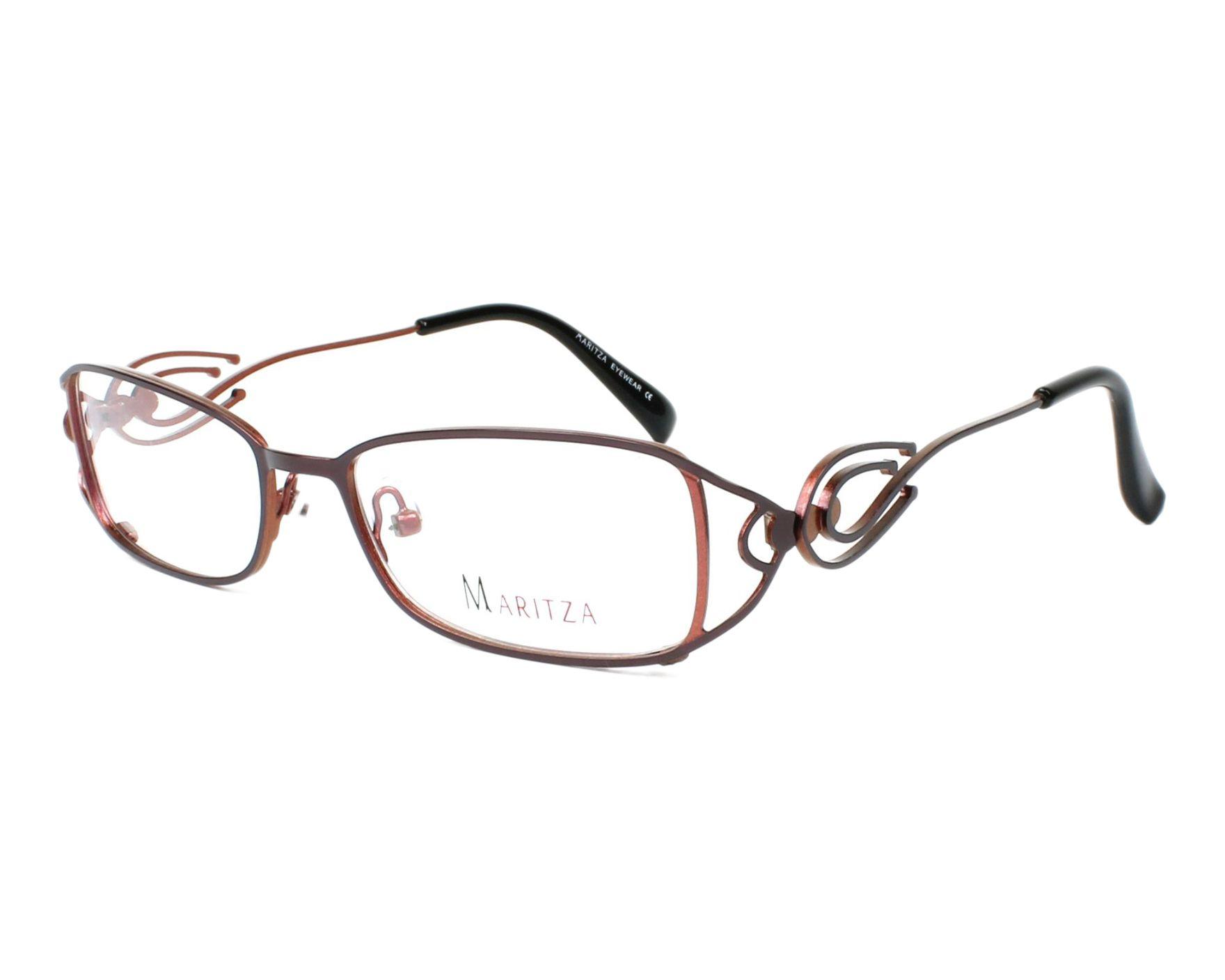 84a1382c84917 Lunettes de vue Maritza M-0170 AUO 51-17 Violet Rose vue de profil