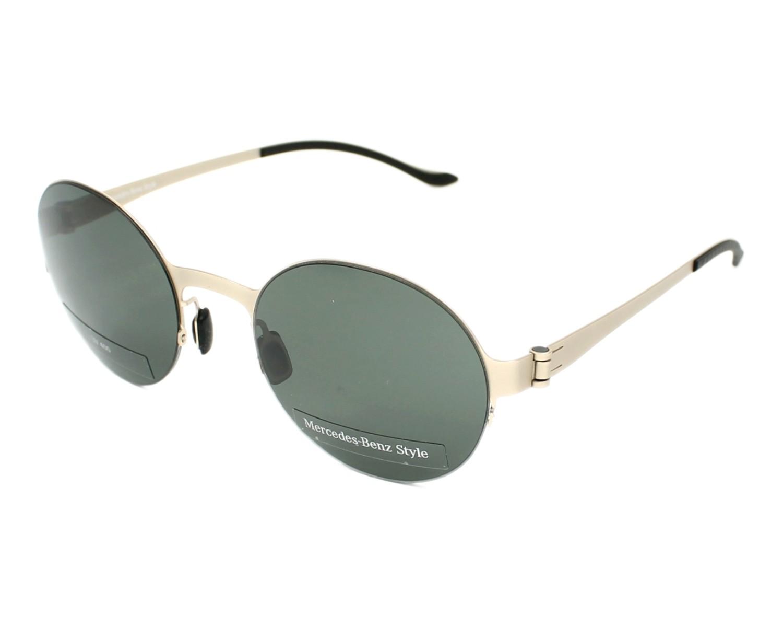 lunettes de soleil mercedes m 1036 b or avec des verres gris vert pour hommes. Black Bedroom Furniture Sets. Home Design Ideas